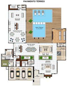 211 - Plantas de casas - Luanda - Angola - Pavimento Superior
