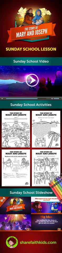 Luke 2 Mary And Joseph Christmas Kids Bible Story This For