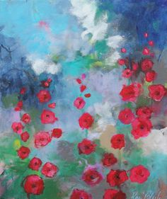 Acrylic Floral Painting on Canvas Abstract by kerriblackmanfineart