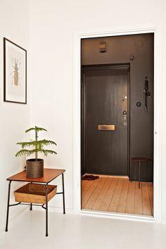 black entryway
