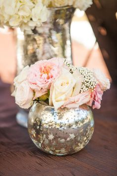 Mercury glass - love the look and touch of elegance. Can be for centerpieces or glasses and many things!