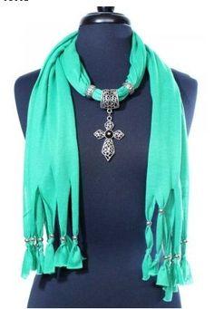 Jewel Scarf Stars Turquoise