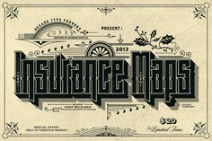 Insurance Maps Font (Promo) by Decade Type Foundry on @creativemarket