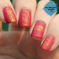 A matte-r of fact, this mani DOES remind me of Chinese New Year! Inspired by IG@kgrdnr READ MORE HERE:http://nicethingstolist.blogspot.sg/2014/06/matte-flakie.html