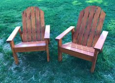 Adirondack Chair Plans (Step-by-Step Instructions) - Chisel & Fork Wooden Garden Chairs, Backyard Chairs, Wood Adirondack Chairs, Outdoor Chairs, Backyard Seating, Adarondack Chairs Plans, Adorondack Chairs, Lawn Chairs, Pink Chairs