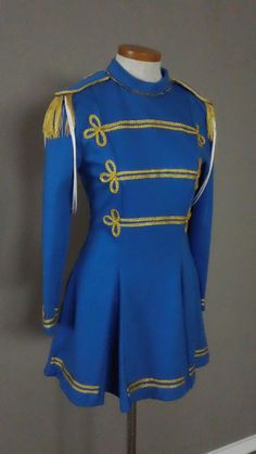 60s Vintage Majorette Military Dress