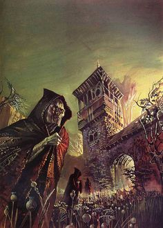 Artist Bruce Pennington - H. Lovecraft & Others, Tales Of The Cthulhu Mythos Vol. Gothic Horror, Arte Horror, Horror Art, Isaac Asimov, Dark Fantasy, Fantasy Art, Science Fiction, Dragons, Arte Sci Fi