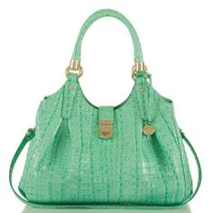 Elisa Hobo BagLa Scala Mint.. Ok not emerald, but mint.. but in the green family. Brahmin... nice springy color