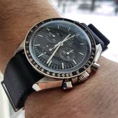 "755 Likes, 36 Comments - @watchveen on Instagram: ""Speemaster on Omega nato . . . . . #omega #omegaspeedmaster #speedmaster #moonwatch #omegawatch…"""