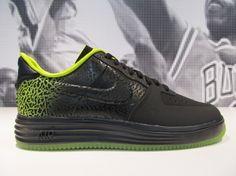 "Nike Lunar Force 1 ""Elephant Print Fade"" – Black – Green"