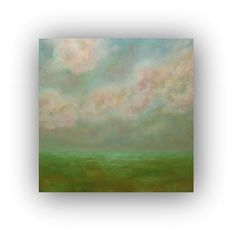Field Sky Clouds Original Oil Painting on Canvas by traceynicholas, $360.00