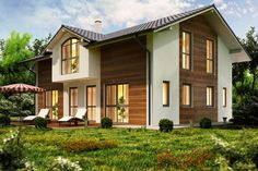 Fassadengestaltung modern stein  Bildergebnis für fassadengestaltung einfamilienhaus modern ...