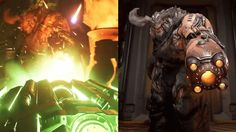 A comparison between DOOM's initial reveal and final release