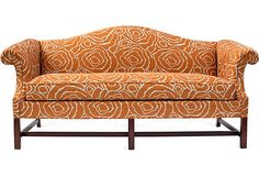 Orange Swirl Camelback Sofa on OneKingsLane.com