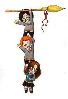 WallPotter: Harry Potter, Ron Weasley e Hermione Granger