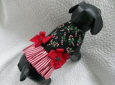 Christmas  Ruffled   Harness Vest  Custom  Made  dog or cat