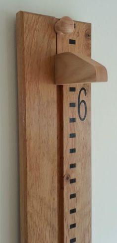 Handmade Wooden Growth Chart / Height Chart. Solid Oak, Ideal Christening Gift