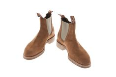 RM Williams Suede Turnout Yearling boots, in a new colour - mid brown