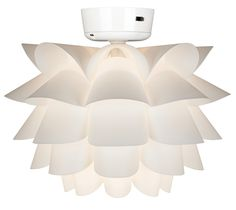 White Flower Ceiling Fan Light Kit -
