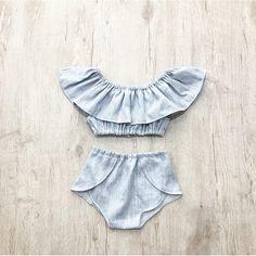 Textured Summer Set, Vacation set , Baby Girl Set, Toddler, Summer, Shorts and Crop Top, Baby girl, off the shoulder, crop top, Girls set