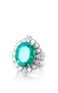 Eternal Emerald Ring by Farah Khan Fine Jewelry for Preorder on Moda Operandi