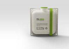 Life / Paper-made Sustainable Water Container by Andrea Ponti, via Behance