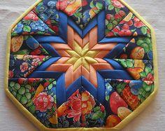 folded star pot holder - Google Search