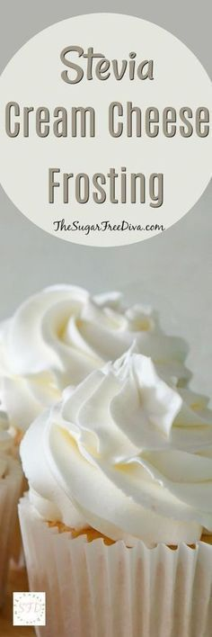 Stevia Cream Cheese Frosting Enjoy this recipe for sugar free cream cheese frosting using Stevia as the sweetener. This is a tasty frosting that easy to make. Sugar Free Deserts, Sugar Free Sweets, Low Carb Sweets, Sugar Free Recipes, Low Carb Desserts, Sugar Free Frosting, Sugar Free Baking, Cream Frosting, Icing Frosting
