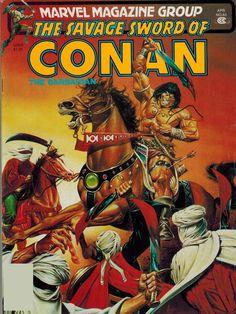 Savage Sword of Conan #63 (1981) - Cover by Joe jusko