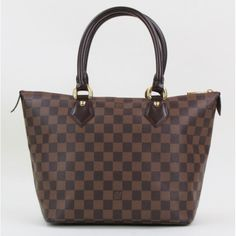 Louis Vuitton Ebene Damier Canvas Saleya PM