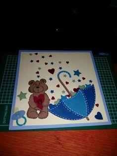 # babyshower card. #cottagecutz mr. snuggles