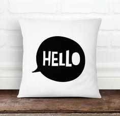 Hello Pillow Cover from Decorart Design by DaWanda.com
