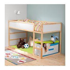 KURA Reversible bed, white, pine - Single - IKEA