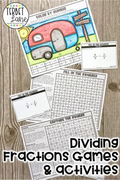 This printable dividing fractions game packet is a fun way to practice new math skills or review past lessons. Each math activity gives students valuable practice dividing fractions while playing engaging games and activities. This set is great for math centers, early finishers, or take home packets. Fun Writing Prompts, Cool Writing, Math Games, Math Activities, Fraction Games, States And Capitals, Dividing Fractions, Early Finishers, Sixth Grade