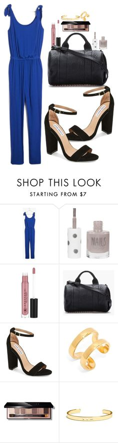 """""""Untitled #2330"""" by abigailtaylor ❤ liked on Polyvore featuring Madewell, Topshop, Anastasia Beverly Hills, Alexander Wang, Steve Madden, BaubleBar, Bobbi Brown Cosmetics, women's clothing, women and female"""