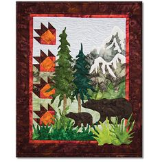 Quilt Patterns with North woods flair, Quilts with bears and moose ... : country quilts and bears - Adamdwight.com