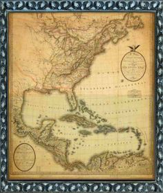 Fort Myers Florida, Vintage World Maps