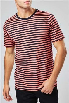Buy Red Overdyed Stripe T-Shirt from the Next UK online shop