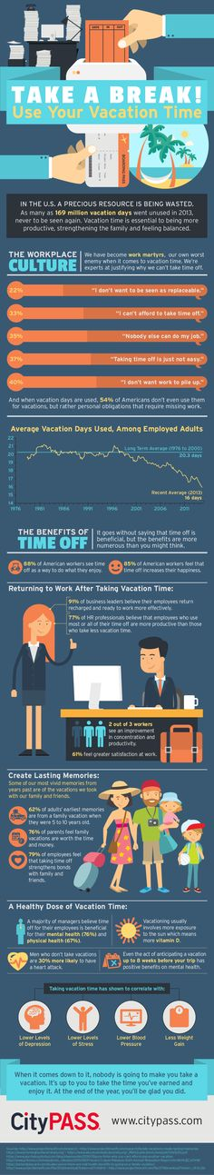 Take a Break! Use Your Vacation Time #infographic #Travel