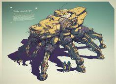Spider robot LF-6, Ivan Laliashvili on ArtStation at https://www.artstation.com/artwork/8nqrR