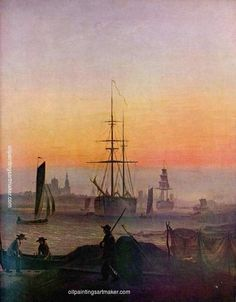 Caspar David Friedrich Ships at the port of Greifswald, 1810 painting art sale, painting Authorized official website