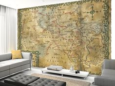 Map of The Shire, Middle Earth Wall Mural | The Hobbit