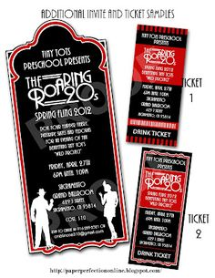 Paper Perfection: Roaring Twenties (1920s) Party Invitations and Party Printables