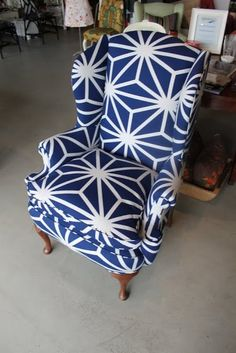 Tips for Choosing a Fabric for Upholstery by Spruce Upholstery - Heller Wingback After3.JPG