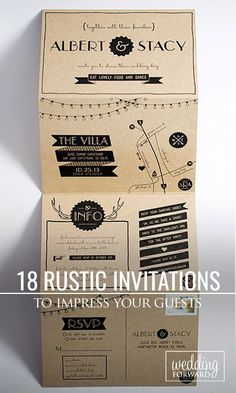 18 Rustic Wedding Invitations To Impress Your Guests ❤ Rustic wedding invitations with elements of wood, natural sprigs, kraft paper, and lace. See more: http://www.weddingforward.com/rustic-wedding-invitations/ #weddings #invitations #rustic Photo: Lauren Owen Design http://laurenowendesign.com