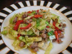 Turkey and cabbage stir fry