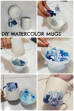 Diy Craft Projects, Diy Arts And Crafts, Diy Crafts To Sell, Easy Crafts, Sharpie Projects, Kids Crafts, Craft Ideas, Diy Becher, Diy Crafts For Adults