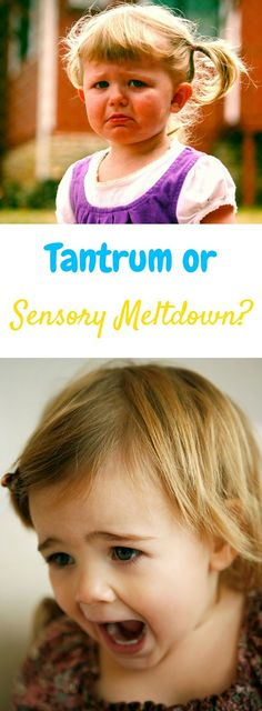 It can be really difficult to tell if your child is throwing a tantrum or if they're having a true sensory meltdown. Many people think they're the same thing but they aren't! This post explains the difference between the two and how to handle sensory meltdowns for kids with sensory processing disorder or autism!