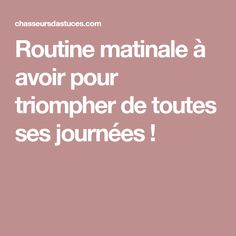 Routine matinale à avoir pour triompher de toutes ses journées ! Organization Bullet Journal, Miracle Morning, Positive Attitude, Positive Life, Happy Life, Health Fitness, Positivity, How To Plan, Motivation