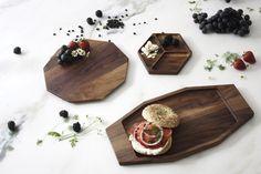 Aroara Industries for Ink Dish. California Walnut serve ware collection.